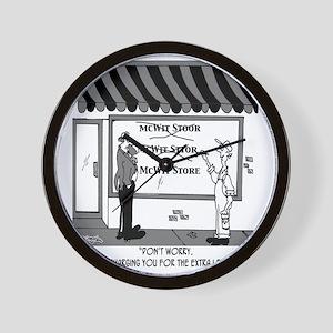 5051_business_cartoon Wall Clock