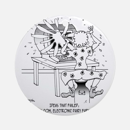 7785_milk_cartoon Round Ornament