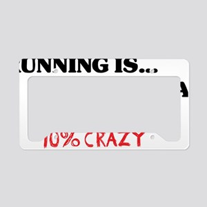 running is 50 RED License Plate Holder