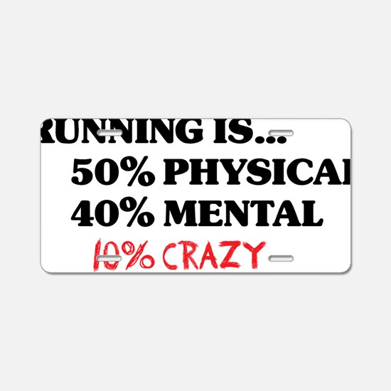 running is 50 RED Aluminum License Plate