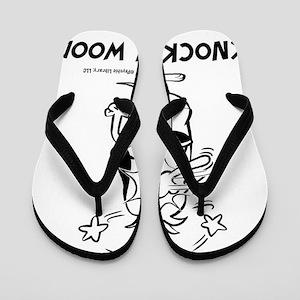 Knock On Wood-Black Flip Flops