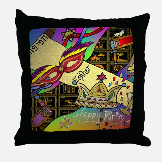 HappyPurim Throw Pillow
