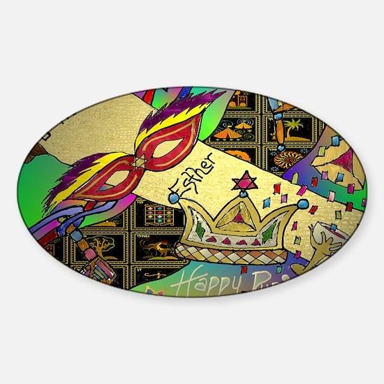 HappyPurim Sticker (Oval)