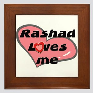 rashad loves me  Framed Tile