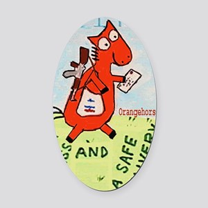postal!2 Oval Car Magnet
