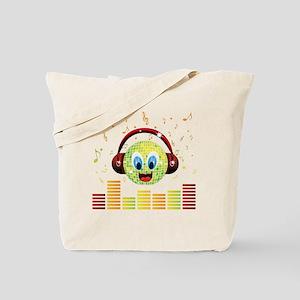 Disco Head Design Tote Bag