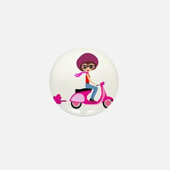 scootgirl Mini Button