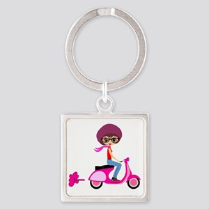 scootgirl Square Keychain