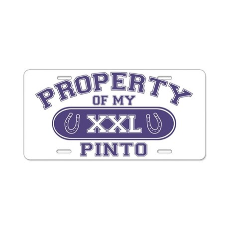 pintoproperty Aluminum License Plate