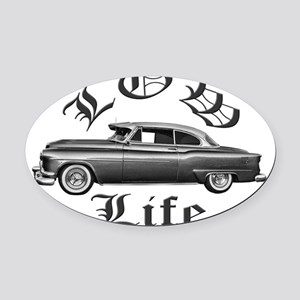 low life Oval Car Magnet
