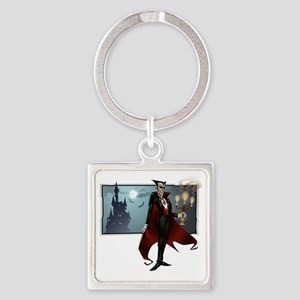 Dracula Square Keychain