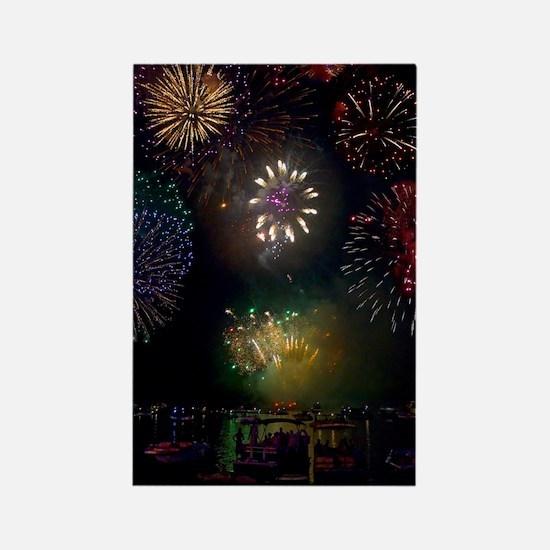 July 4th Fireworks Rectangle Magnet