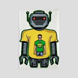 Infinity Robot Green Rectangle Magnet