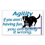 Have Fun in Agility Rectangle Sticker