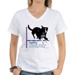 Have Fun in Agility Women's V-Neck T-Shirt