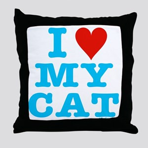 HeartMyCat10x10blueTrans Throw Pillow