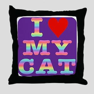 HeartMyCat10x10RainbowLet Throw Pillow