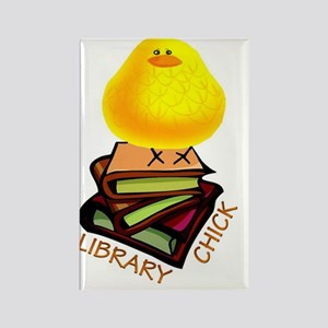 LIBRARY CHICK BOOKS Rectangle Magnet