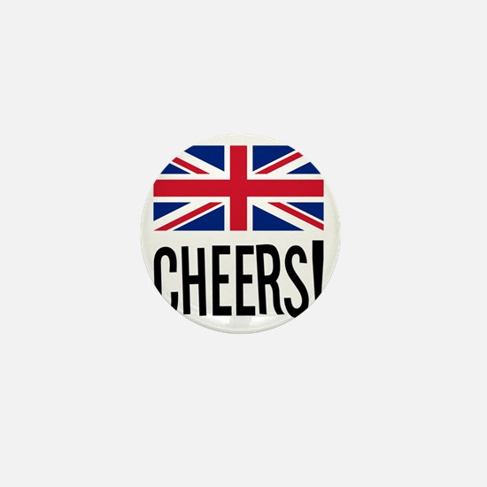 British Cheers Pint Glass Mini Button