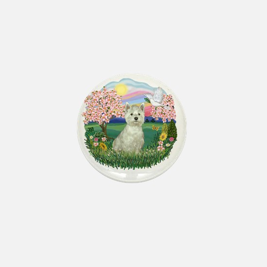 Blossoms-Westie 8 Mini Button