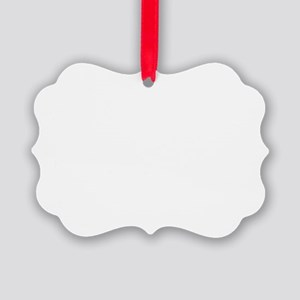 In Your Favor (white) Picture Ornament