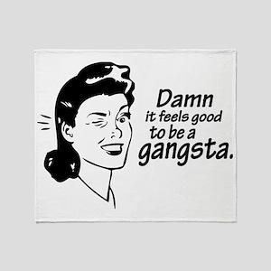 gangsta Throw Blanket