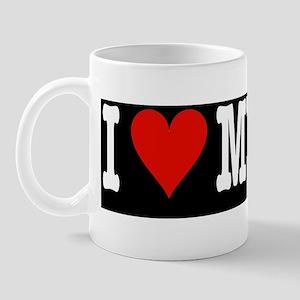 HeartCatBumperBlack Mug
