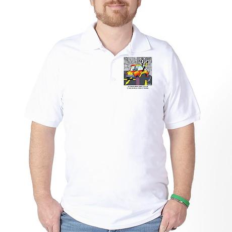 8567_parking_cartoon Golf Shirt