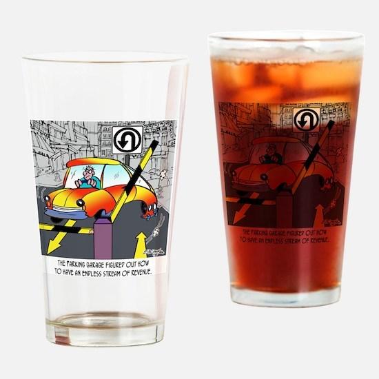8567_parking_cartoon Drinking Glass