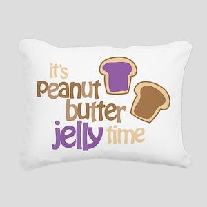 Its Peanut Butter Jelly  Rectangular Canvas Pillow