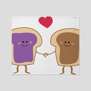 Peanut Butter Loves Jelly Throw Blanket