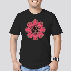 Peace Flower - Affecti Men's Fitted T-Shirt (dark)