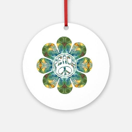 Peace Flower - Abundance Round Ornament
