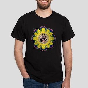 peace flower omm Dark T-Shirt