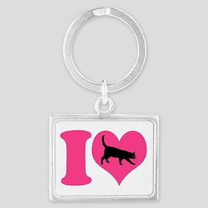 I Love Cats Keychains