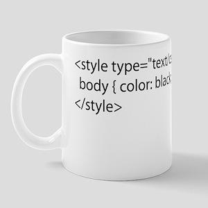 CSS Black Apparel 10x10 Mug