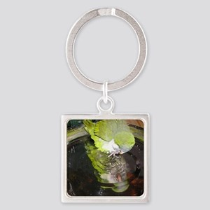 cropmirror image quaker lydia Square Keychain