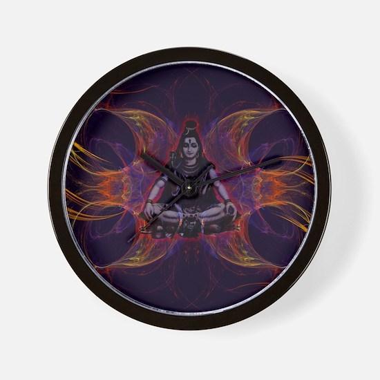 shiva on fractal_small Wall Clock
