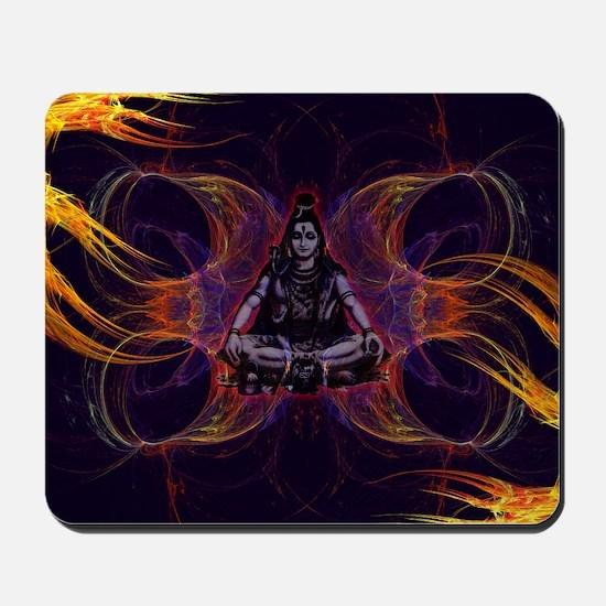 shiva on fractal_small Mousepad