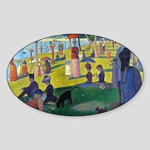 Bag Seurat Jatte Sticker (Oval)