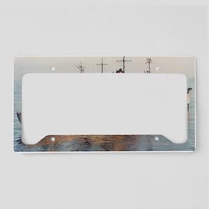 cavalier framed panel print License Plate Holder