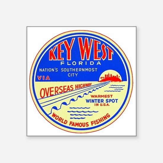 Key West, Florida Untrimmed Sticker