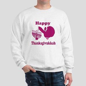 Happy Thanksukkah 3 pink Sweatshirt