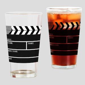 Blank ClapperBoard Drinking Glass