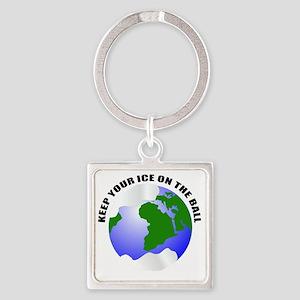 unique save the earth Square Keychain