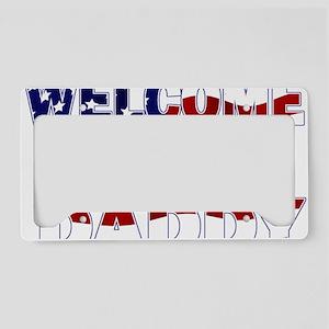 WELCOMEFALG License Plate Holder