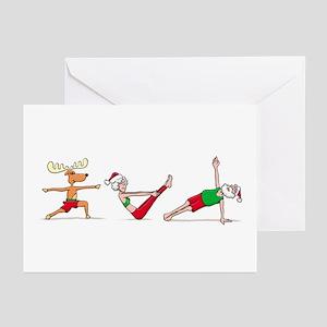 Yoga greeting cards cafepress santa amp the gang card greeting cards m4hsunfo