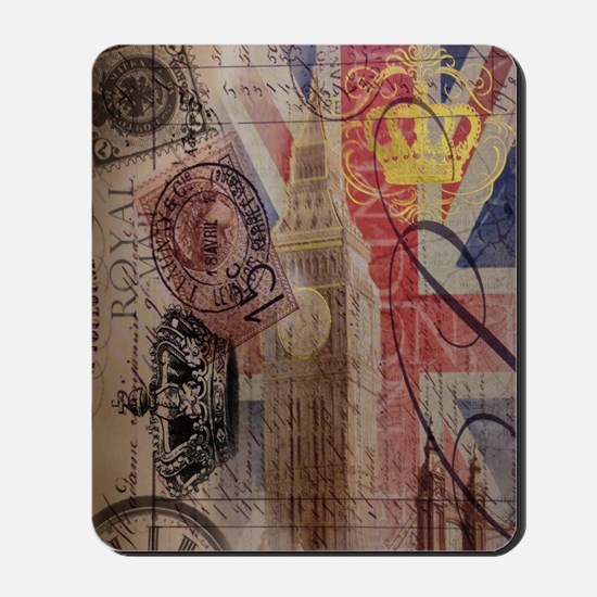 vintage British Flag London UK fashion Mousepad