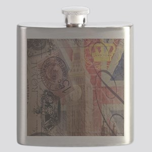 vintage British Flag London UK fashion Flask