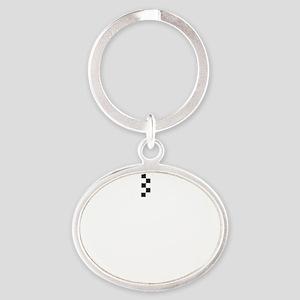 XrideWHT Oval Keychain